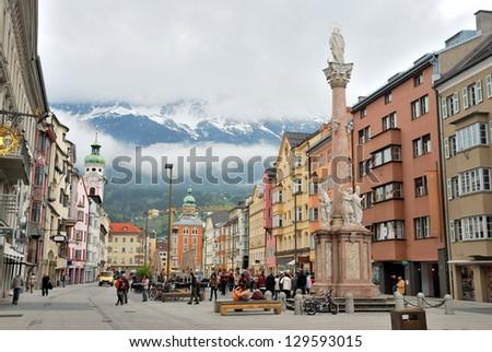 Townscape of Innsbruck, Switzerland. - stock photo