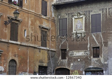 townscape of Rome, Italy