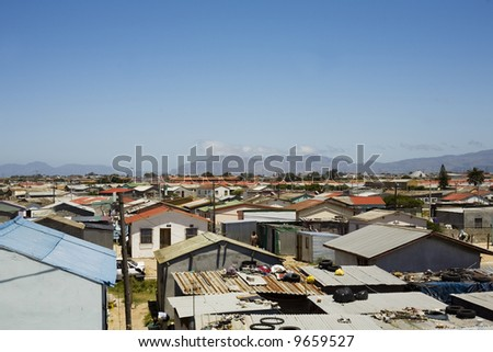 townships in cape town South Africa - stock photo