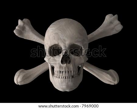toxic skull symbol 3d computer generated image - stock photo
