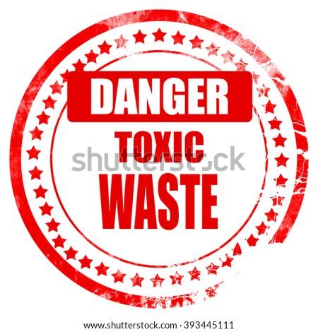 Toxic waste sign - stock photo
