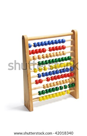 Toy Abacus on Isolated White Background - stock photo