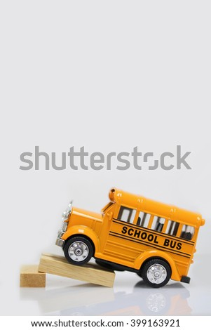 Toy car.Concept back to school. - stock photo