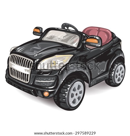 Toy car for kids - stock photo