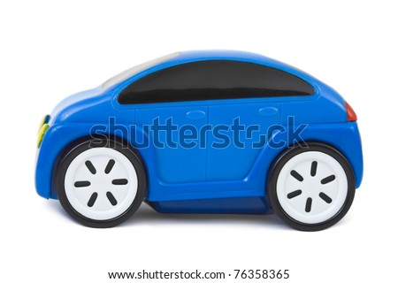 Toy car isolated on white background - stock photo