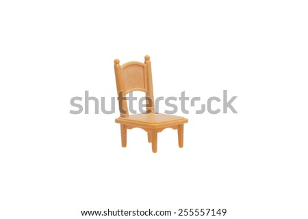 Toy chair. Isolated on white.                                - stock photo