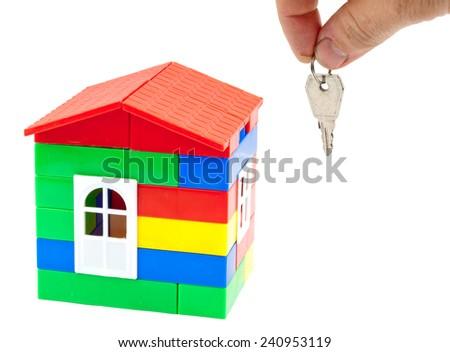 Toy, children's house. Concept - stock photo