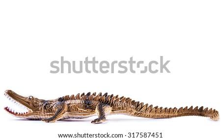 Toy Crocodile - stock photo