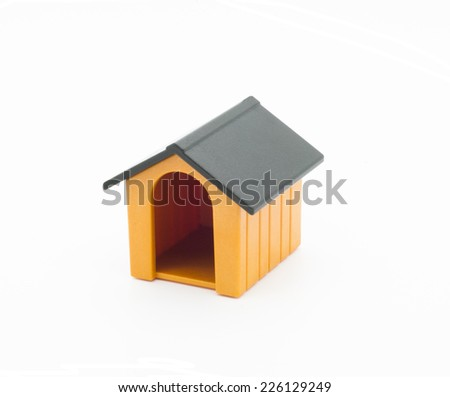 Toy doghouse - stock photo