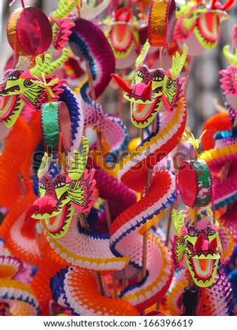toy dragons - stock photo