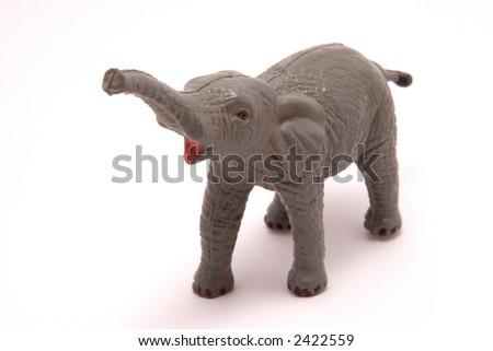 Toy Elephant antique - stock photo