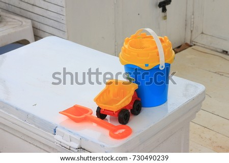 toy equipment for play with the sand