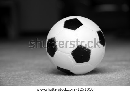Toy foot ball - stock photo