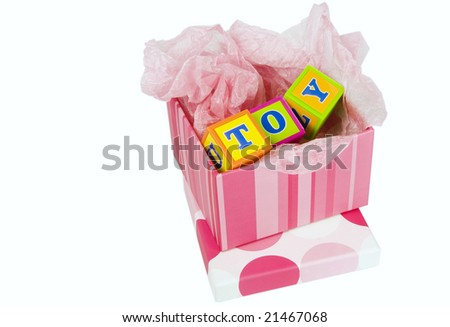 Toy gift - stock photo