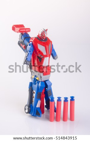 toy gun or toy dart gun on background