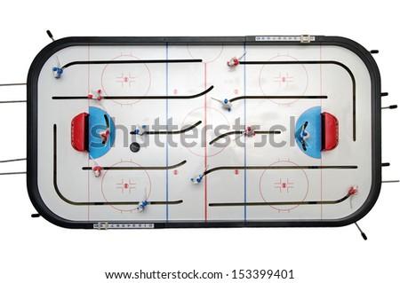 toy hockey isolated on the white background - stock photo