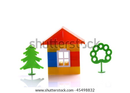 Toy home - stock photo