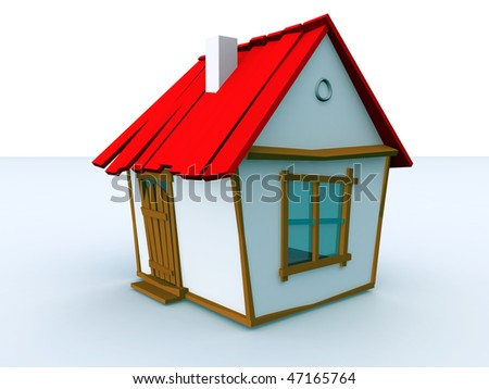 toy house - stock photo