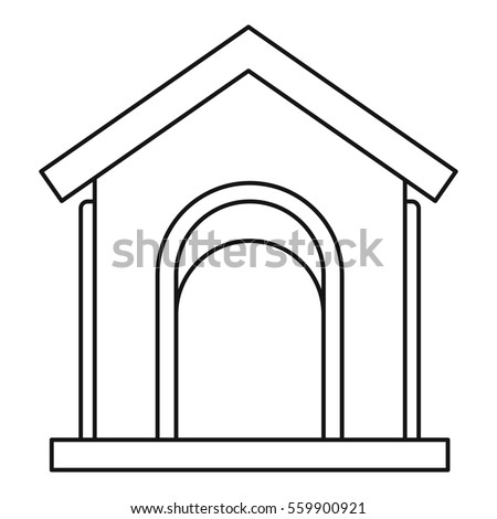 Toy house at playground icon. Outline illustration of toy house at playground  icon for web