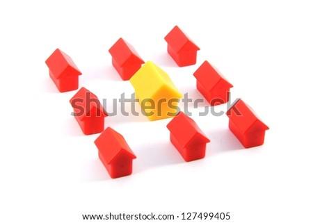 Toy houses - stock photo
