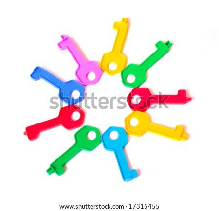 toy keys - stock photo