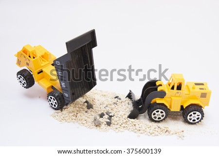Toy loader Background with copy space