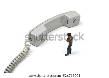 Toy Man By Telephone Receiver
