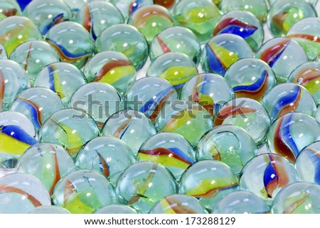 Toy marbles - stock photo