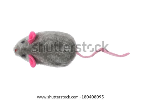 toy mouse on white background  - stock photo