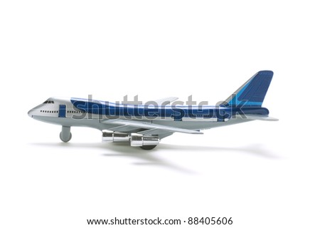 Toy Plane on White Background - stock photo