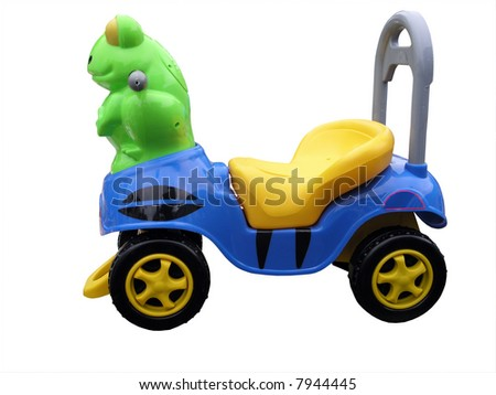 Toy Ride-on Frog - stock photo
