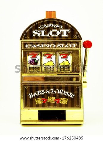 toy slot machine - stock photo