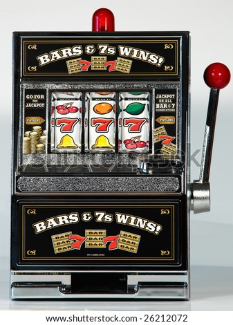 Toy Slot Machine 777 - stock photo