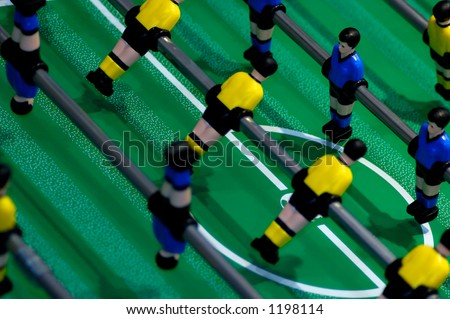 Toy soccer game - stock photo