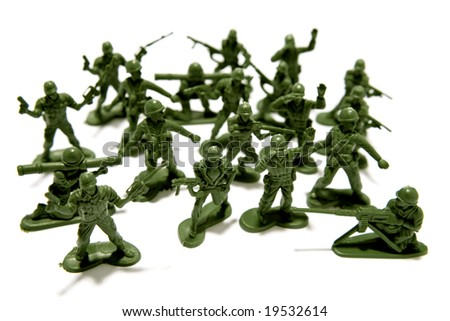 Toy soldiers - stock photo