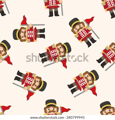 Toy Soldiers ,seamless pattern - stock photo