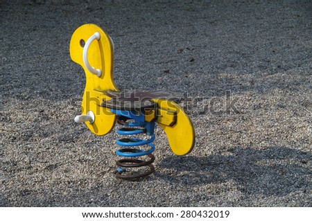 Toy spring outdoor - stock photo