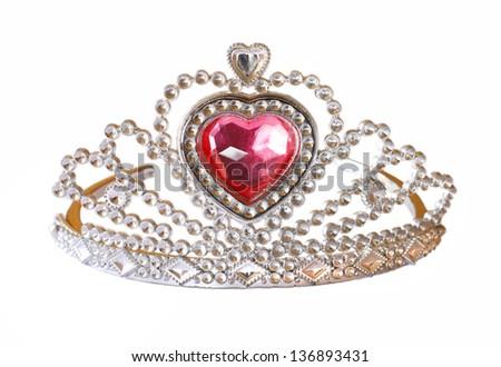 تيجان ملكية  امبراطورية فاخرة Stock-photo-toy-tiara-with-pink-diamond-toy-crown-isolated-on-white-background-136893431