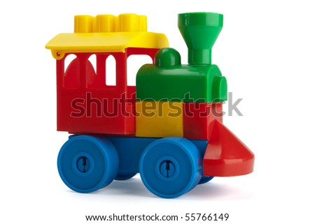 toy train isolated on the white background - stock photo