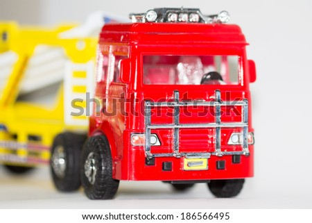toy trucks - stock photo