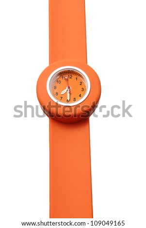 Toy Watch on White Background - stock photo