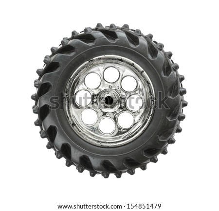 Toy wheel isolated on white background