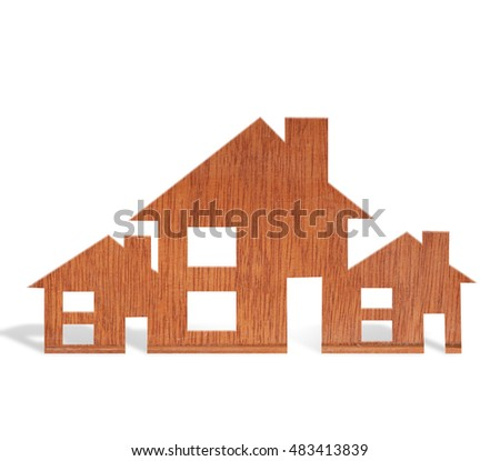 Toy wood house form of the diagram