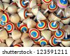 Toy - Wood Spinning Top,Gyroscopes, Thailand kid's toy. - stock photo