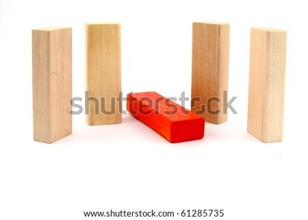 Toy wooden blocks - stock photo