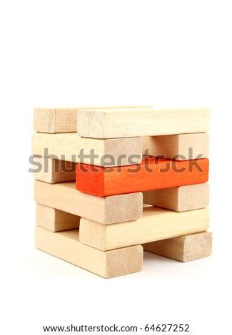 Toy wooden blocks - stock photo