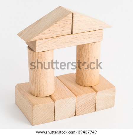 Toy. Wooden tower