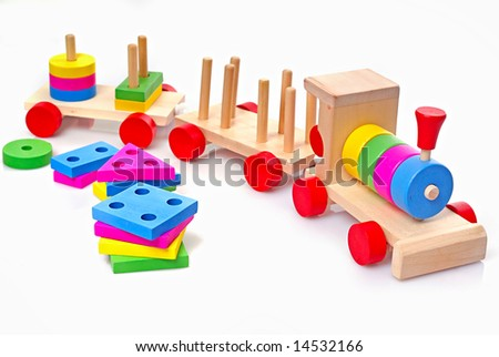 toy wooden train for tot of the younger age