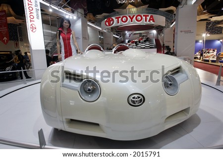 Toyota's concept car. - stock photo