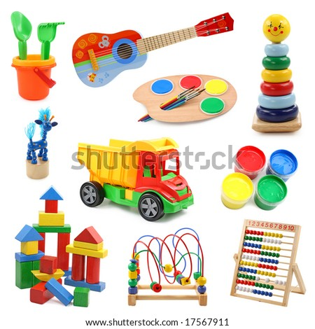 Toys collection 2 - stock photo